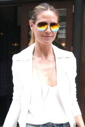 Heidi Klum in Casual Outfit - New York City 06/21/2017