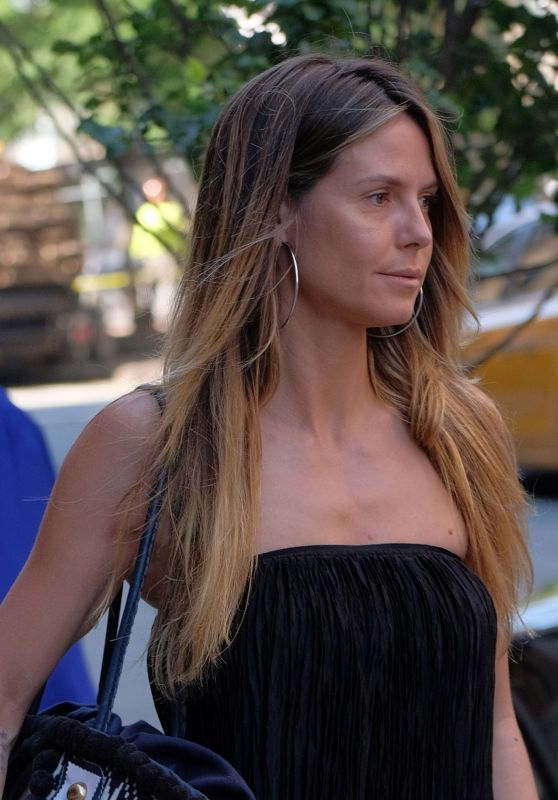 Heidi Klum Make-Up Free - New York City 06/13/2017