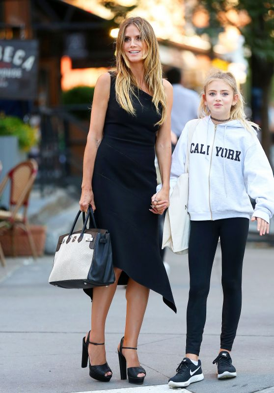 Heidi Klum With Her Daughter -  Shopping in Tribeca in NY 06/14/2017