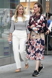 "Hilary Duff and Miriam Shor - ""Younger"" Set at Times Square in New York 06/19/2017"