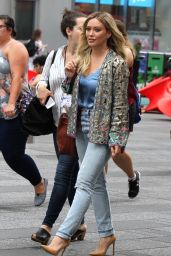Hilary Duff at Good Morning America in NYC 06/19/2017