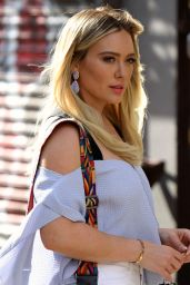 "Hilary Duff at the ""Younger"" Set - Williamsburg Bridge in Brooklyn, NY 06/26/2017"