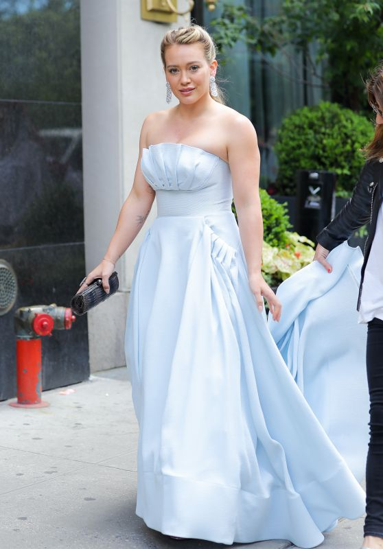 "Hilary Duff in a ""Cinderella"" Dress - ""Younger"" Set in NY 06/07/2017"