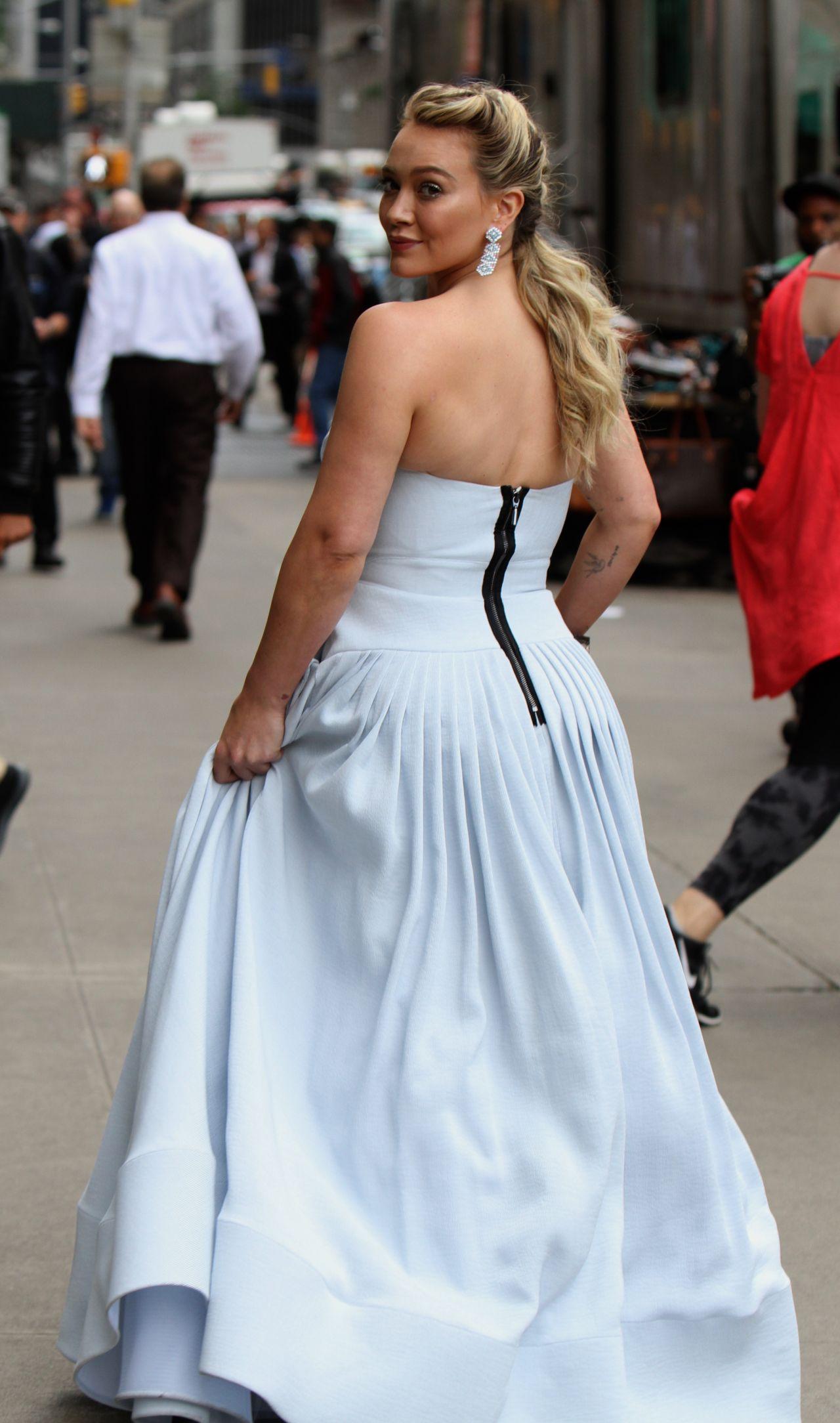 Blue dress hilary duff