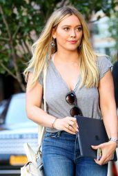 Hilary Duff in Tight Jeans - NYC 06/27/2017