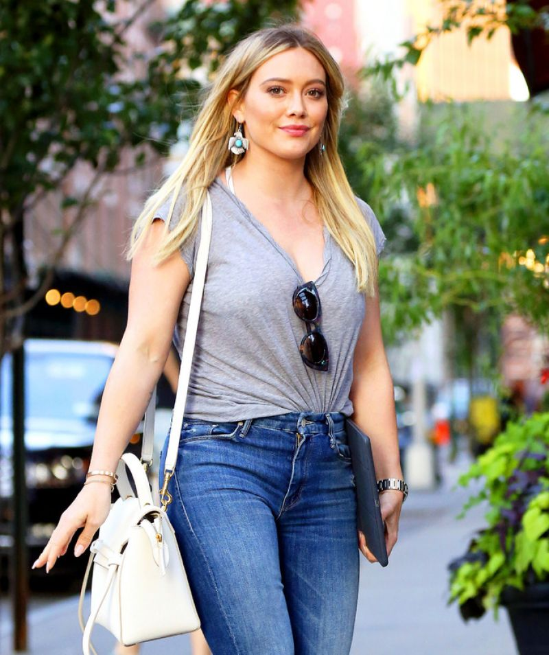 Hilary Duff in Tight Jeans - NYC 06/27/2017 Hilary Duff