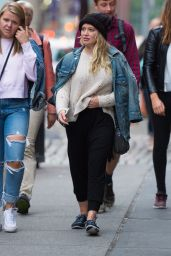Hilary Duff Street Style - Out in NYC 06/18/2017