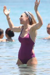 Ilary Blasi in Swimsuit at the Beach in Mykonos, Greece 06/21/2017