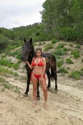 Imogen Thomas in a Red Puerto Rico Bikini - Mallorca, June 2017