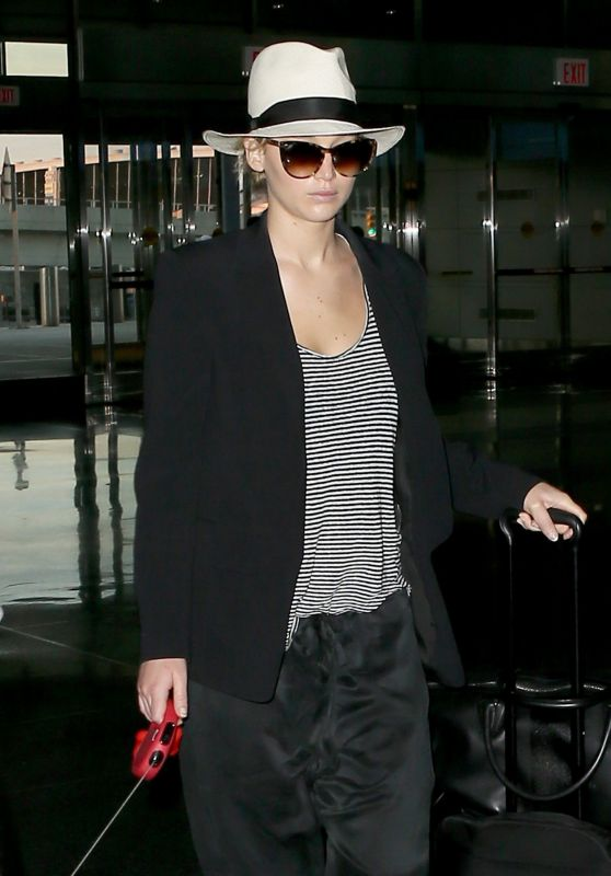 Jennifer Lawrence at JFK Airport in New York 06/22/2017