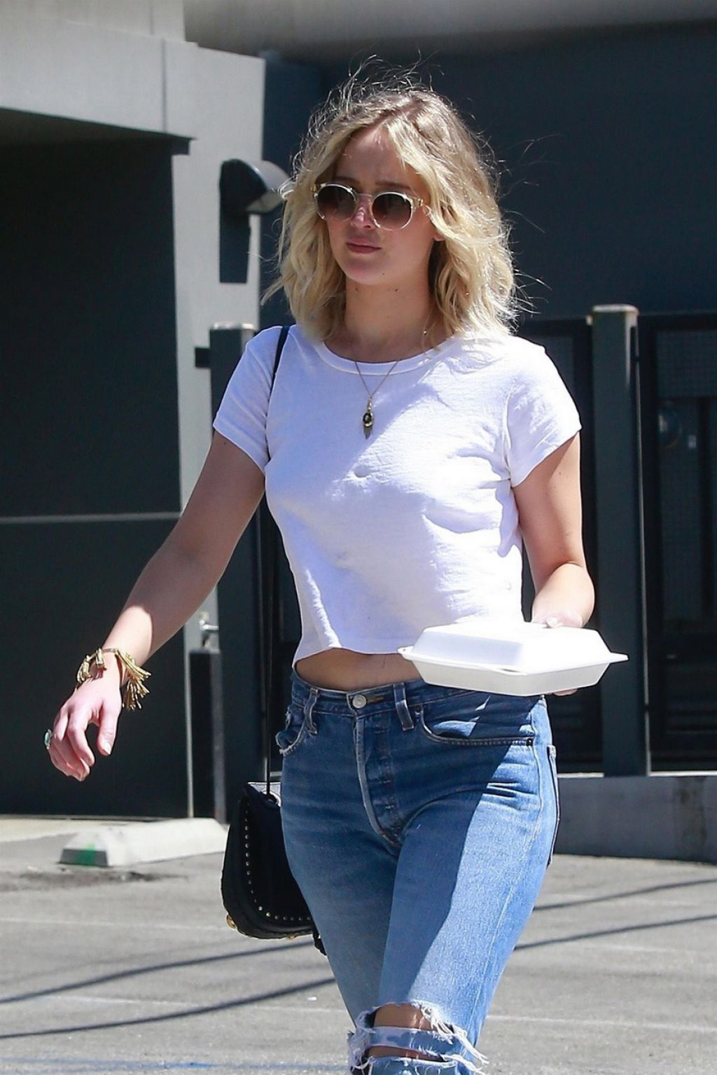 Jennifer Lawrence In Ripped Jeans Out In Los Angeles 06