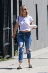 Jennifer Lawrence in Ripped Jeans - Out in Los Angeles 06/25/2017