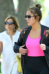 Jennifer Lopez and Alex Rodriguez - Leaving the Gym in the Hamptons 06/25/2017
