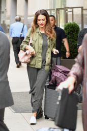 Jessica Alba Casual Style - Arriving at Her Hotel in New York 06/15/2017