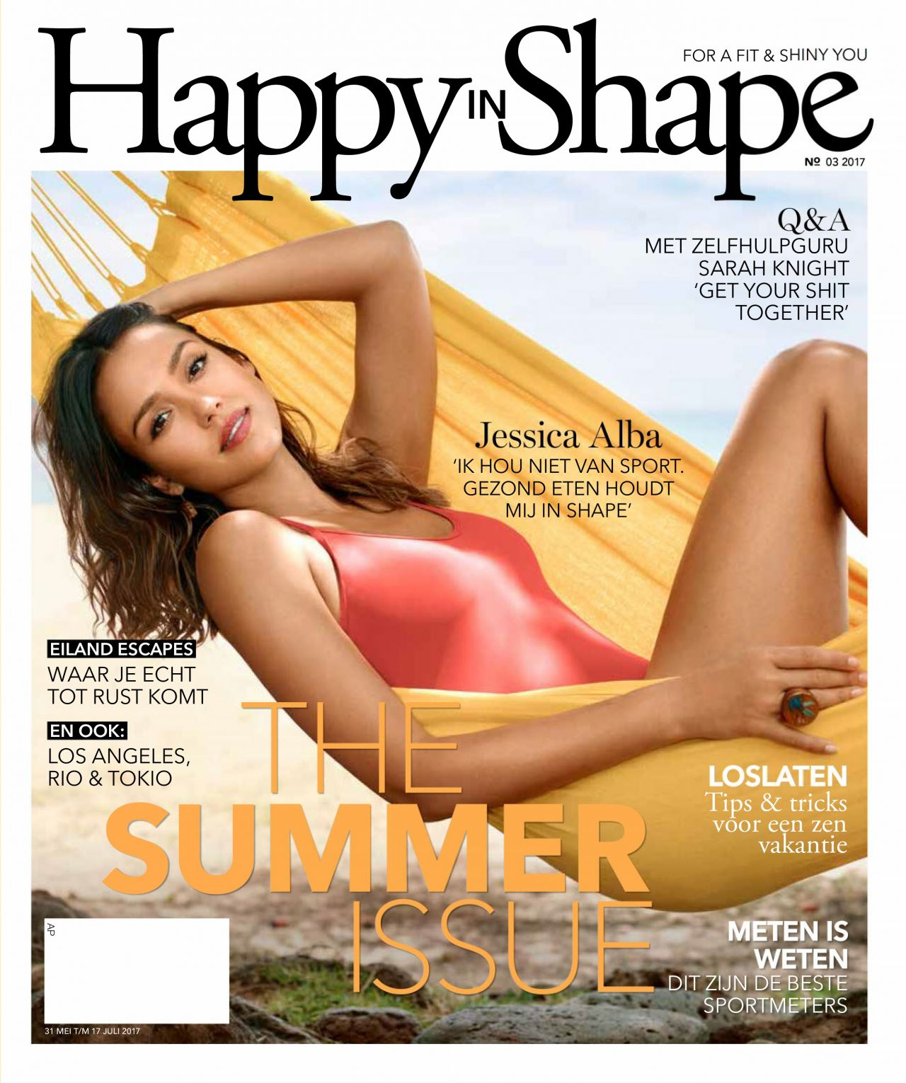 Jessica Alba - Happy in Shape MAgazine May / July 2017 Issue