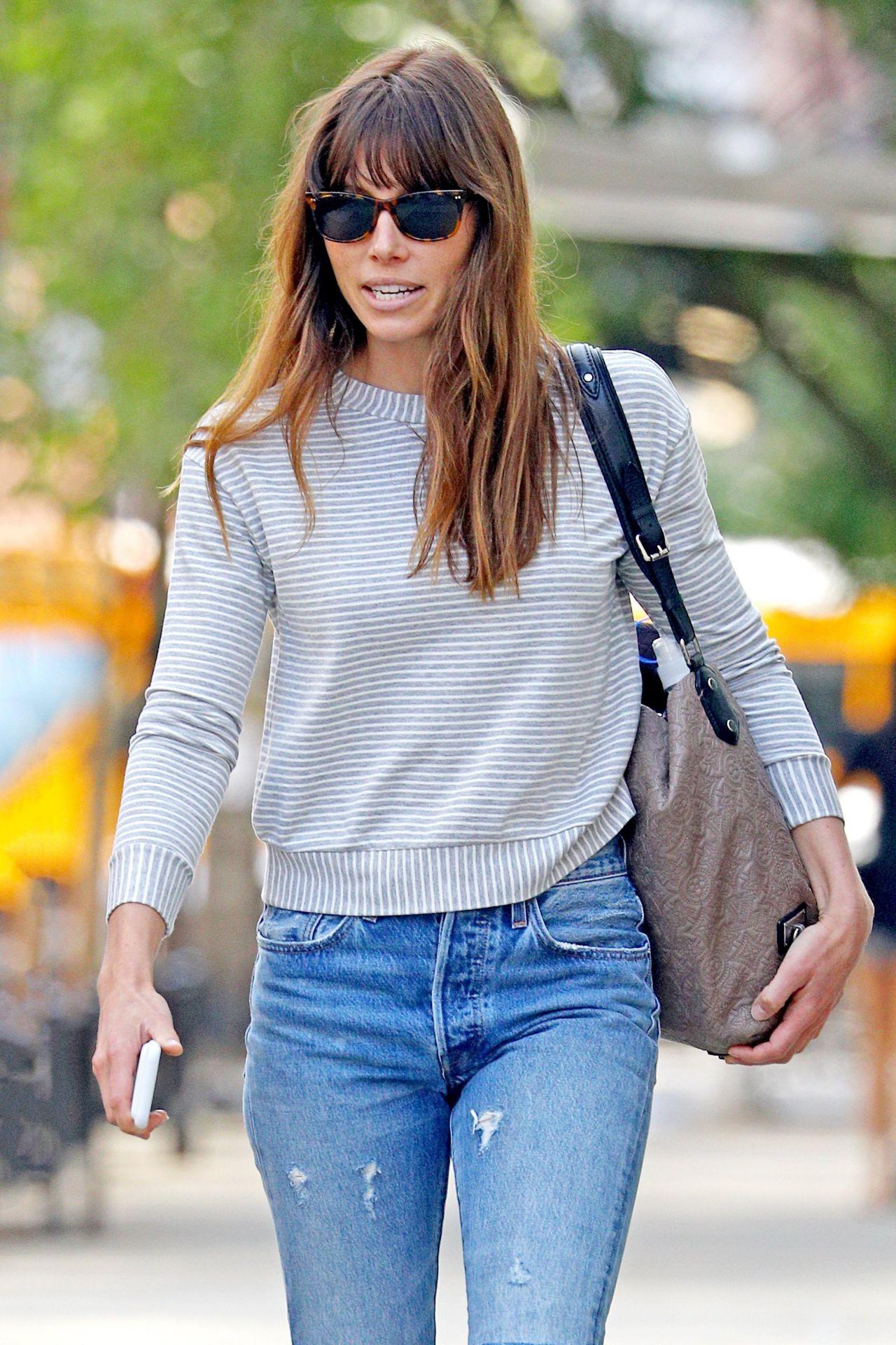 Jessica Biel Street Style Nyc