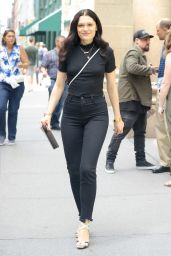 Jessie J Carrying Her MacBook Pro - Heading Into a Meeting in NYC 06/28/2017
