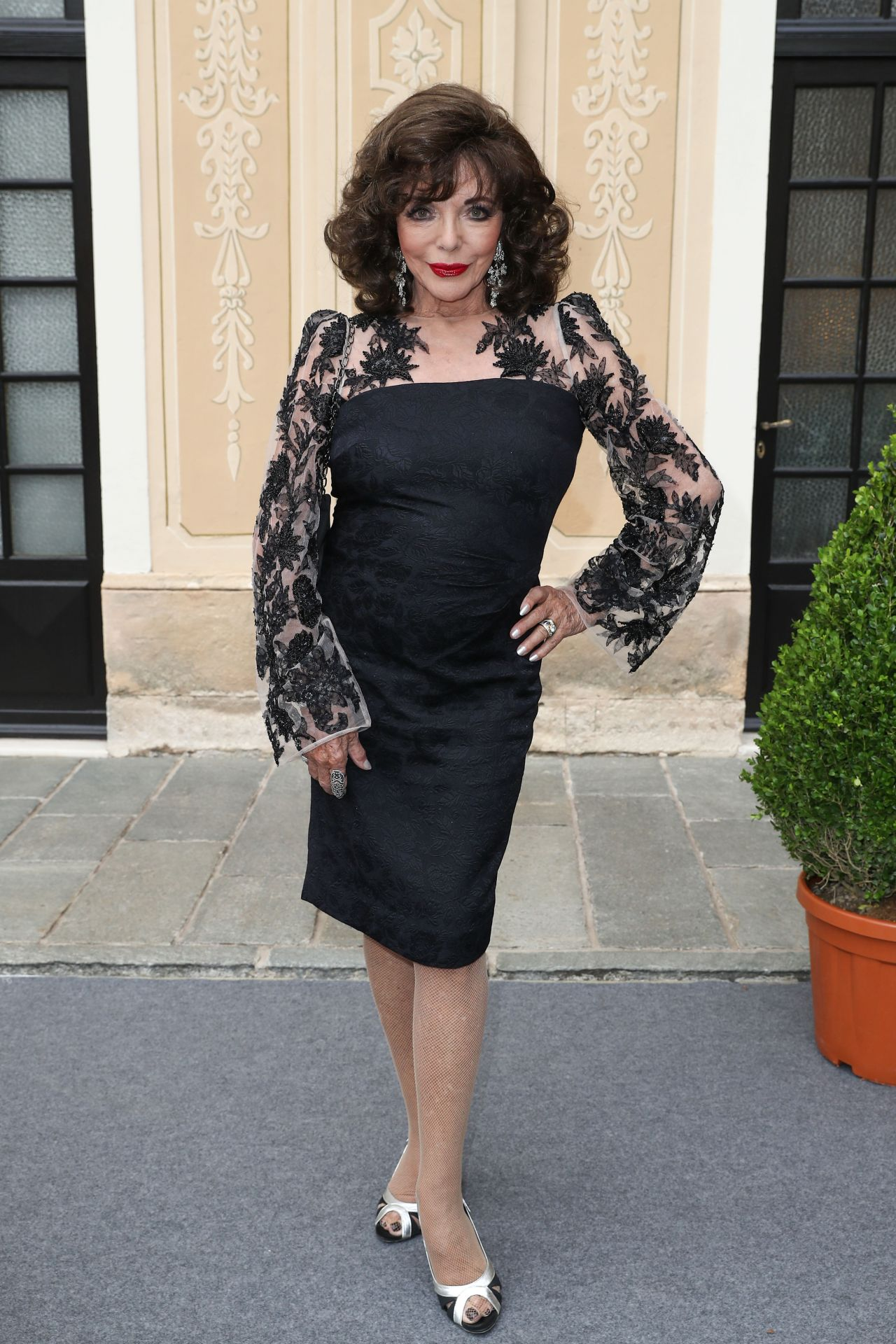 Joan Collins At Monte Carlo Tv Festival Cocktail Party Monaco Palace 06 18 2017