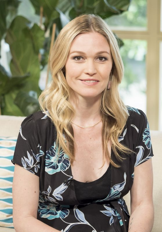 "Julia Stiles Appeared on ""This Morning"" TV Show in London 06/13/2017"