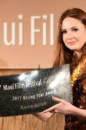 Karen Gillan - Receives the Rising Star Award at the Maui Film Festival 06/24/2017