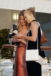 Karlie Kloss Classy Fashion - at the Hotel du Cap in Cannes 06/19/2017