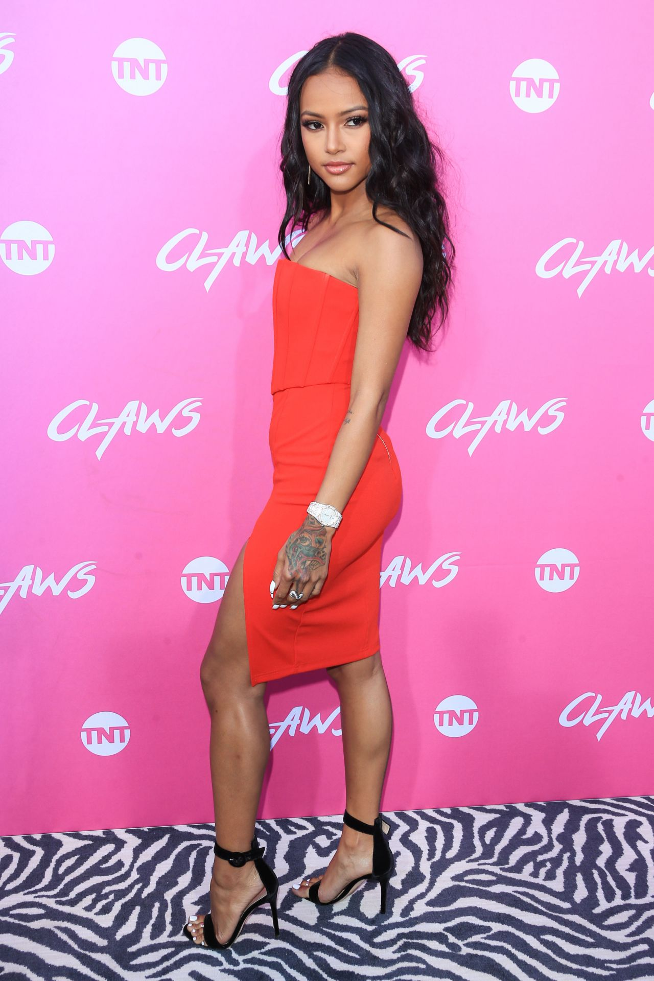 "Los Angeles Parking Ticket >> Karrueche Tran - ""Claws at Harmony Gold"" Premiere in ..."