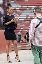 Karrueche Tran - Promoting Her New TV Series in Brooklyn, NY 06/09/2017