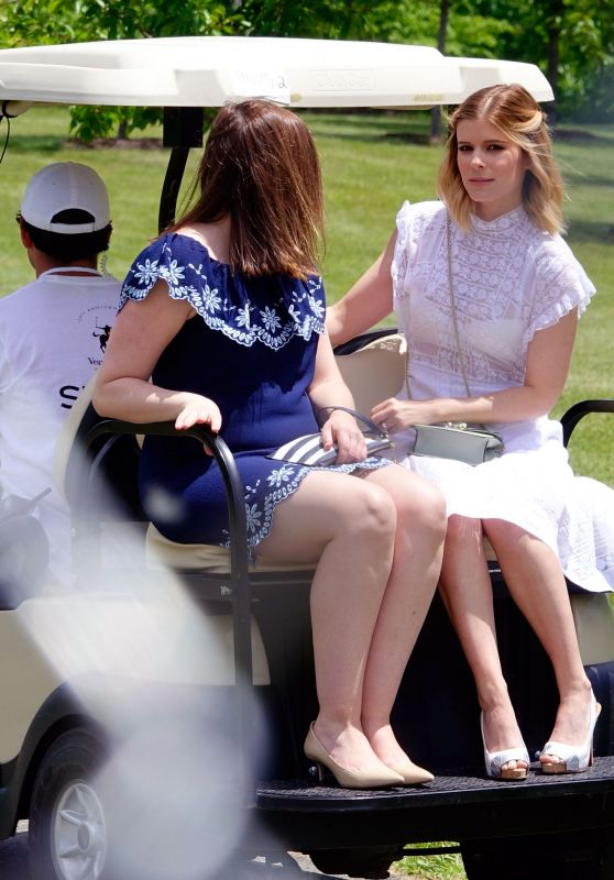 Kate Mara - Rides in a Golf Cart at Veuve Cliquot Polo in New Jersey 06/03/2017