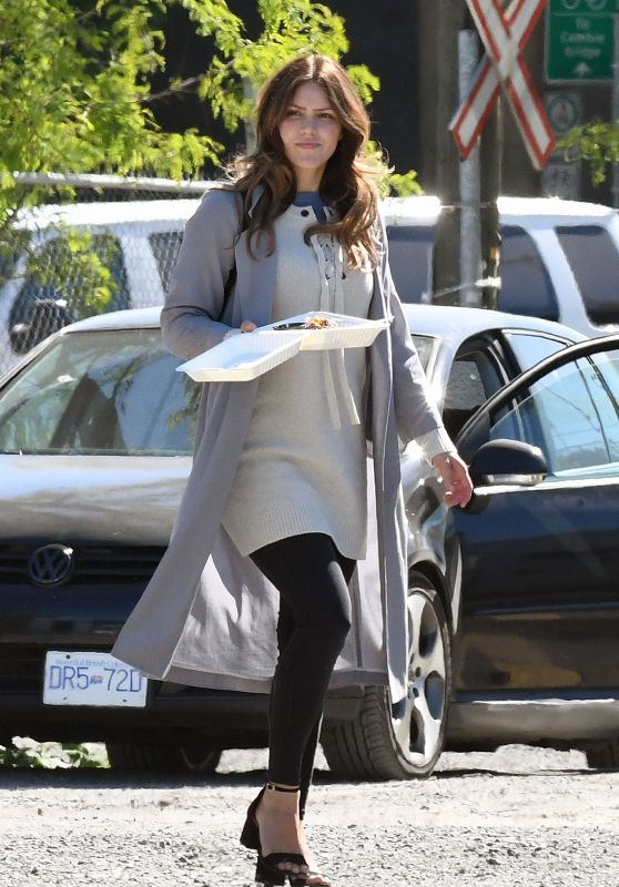 Katharine McPhee on Set of Her Latest Film in Vancouver 05/31/2017