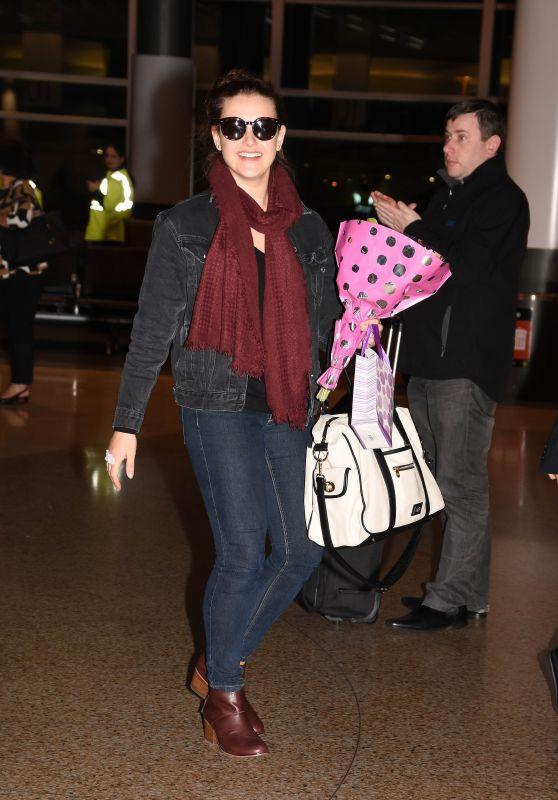 Katherine Langford Travel Outfit - Arrives in Sydney 05/31/2017