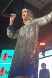 Katy Perry in a Sparkly Outfit Performs in Front of the Opera House in Sydney 06/30/2017
