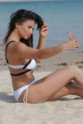 Kayleigh Morris Bikini Candids - Beach in Spain, June 2017