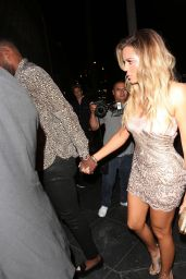 Khloe Kardashian Style - Arriving at Her Surprise Birthday Party in LA 06/25/2017