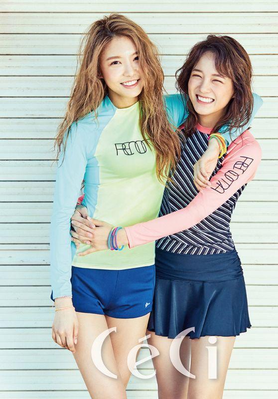 Kim Nayoung & Kim Sejeong (Gugudan) - Céci Magazine 2017 June Issue