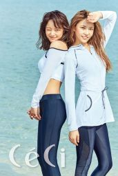 Kim Nayoung & Kim Sejeong (Gugudan) - Céci Magazine 2017 June Issue