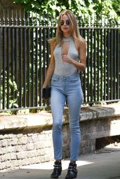 Kimberley Garner in Tight Jeans - Running Errands in Chelsea, London 06/14/2017