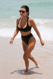 Kourtney Kardashian in Black Bikini - Miami Beach 06/12/2017