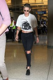 Kristen Stewart and Stella Maxwell - LAX Airport in Los Angeles 06/29/2017