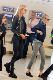 Kristen Stewart Travel Outfit - Orly Airport in Paris 06/14/2017