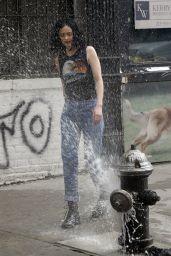 "Krysten Ritter - ""Jessica Jones"" Set in NYC 06/23/2017"