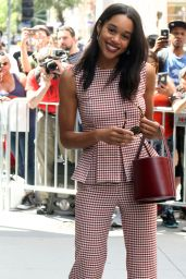 Laura Harrier is Looking All Stylish - AOLBuild, NYC 06/26/2017