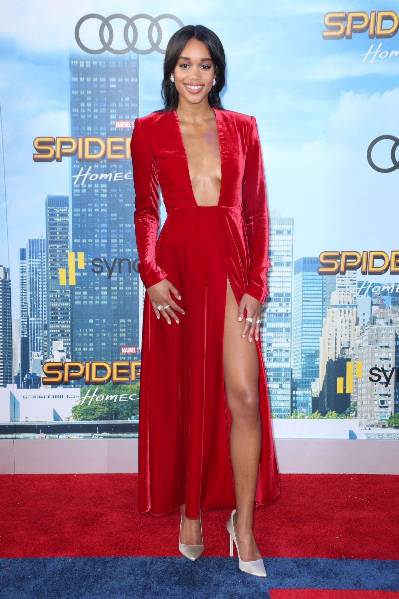 Laura Harrier Spider Man Homecoming Premiere In