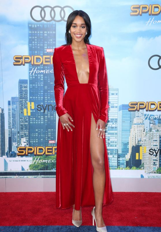 "Laura Harrier – ""Spider-Man: Homecoming"" Premiere in Hollywood 06/28/2017"