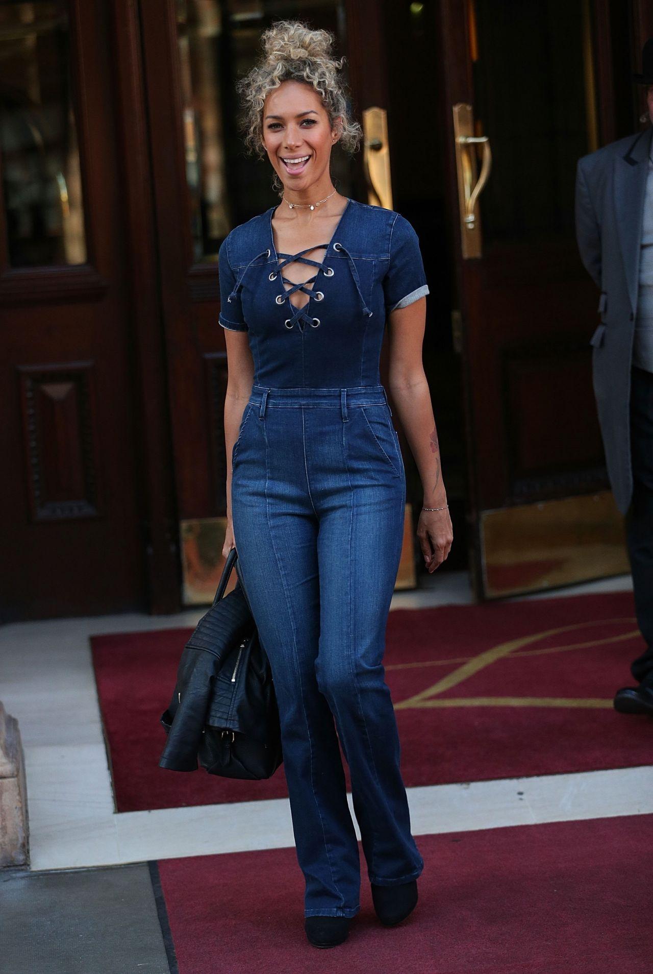 Leona Lewis In Jeans Leaving The Landmark Hotel In