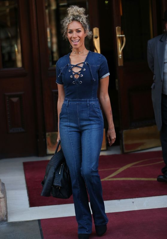 Leona Lewis in Jeans - Leaving the Landmark Hotel in London, UK 06/10/2017