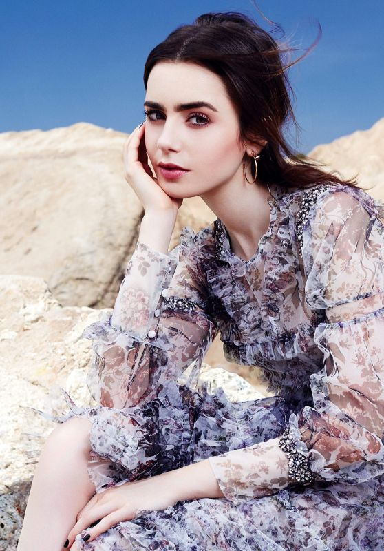 Lily Collins - Glamour Magazine Mexico July 2017 Cover and Photos
