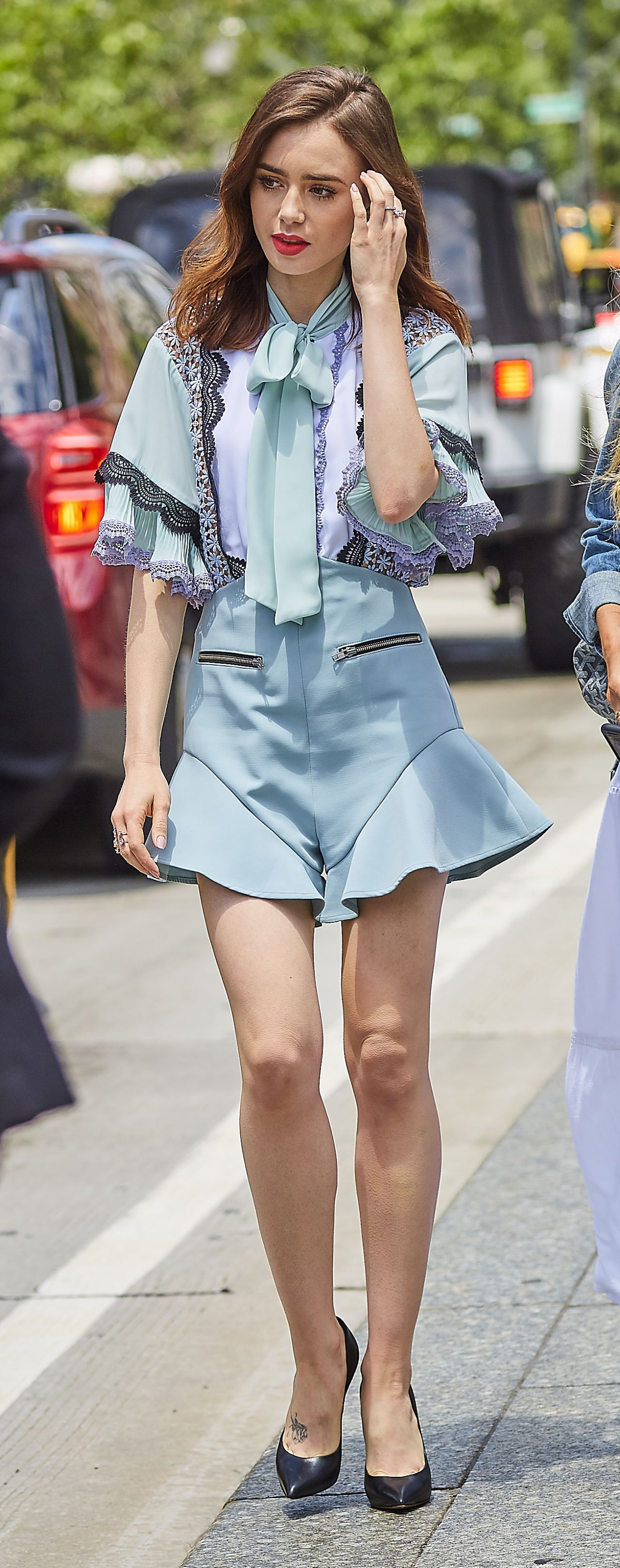 Lily collins in lace trim play suit new york city nude (51 photos), Leaked Celebrites images