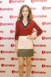 "Lily Collins - ""Lorraine"" TV Show in London 06/25/2017"