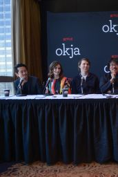 """Lily Collins - """"Okja"""" Movie Press Conference in NYC 06/09/2017"""