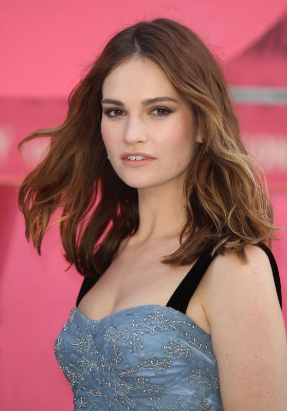 """Lily James - """"Baby Driver"""" European Premiere in London, UK 06/21/2017"""